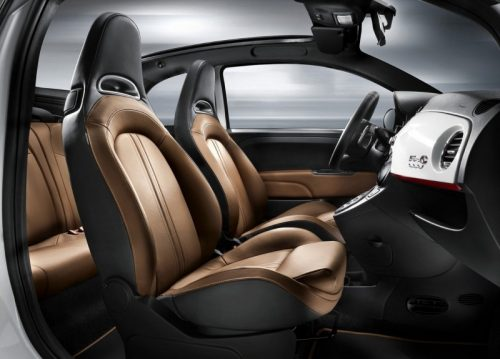 Interior of Abarth 500C