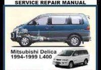 Mitsubishi Delica Service Manuals