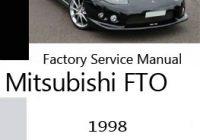 Mitsubishi FTO Service Manuals