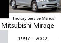 Mitsubishi Mirage Service Manuals